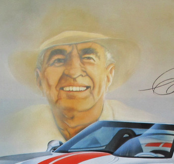 Carroll Shelby Series 1 Cobra Framed Poster Certified Autograph