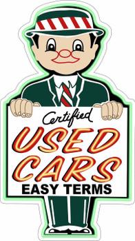 Certified Used Cars Salesman Metal Sign