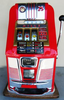 Mills 25c  High Top Slot Machine Circa 1950