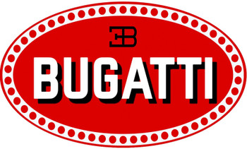 Bugatti Logo Oval Metal Sign
