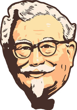 Colonel Sanders KFC Face Metal Sign