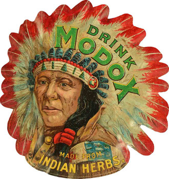 Drink Modox Made from Indian Herbs Plasma Cut Metal Sign Advertisement