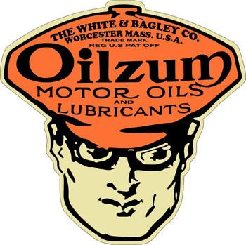 Oilzum Lubricants Plasma Metal Sign