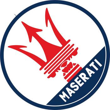 """Maserati Logo 14"""" Round Metal Sign"""