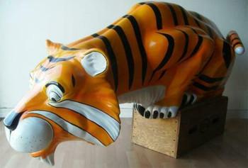 """Esso Tiger Fiberglass Statue 84"""" Long"""