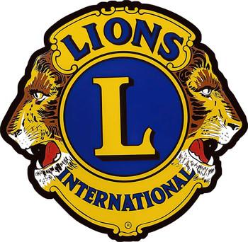 Lions International Logo Metal Sign