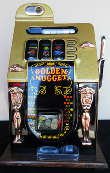 Mills Golden Nugget $1 Slot Machine Gold Flake/Black
