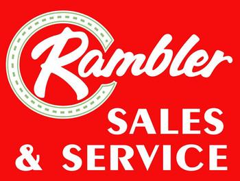 Rambler Sales& Service Metal Sign
