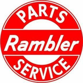 "Rambler Parts- Service  14"" Round Metal Sign"