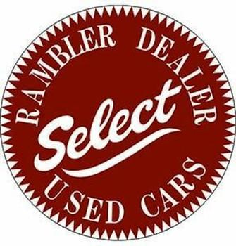 "Rambler Dealer 14"" Round Metal Sign"