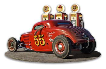 1933 Ol' Skool Coupe w Pump Plasma Cut Metal Sign