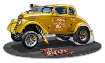 1933 Willy's Gasser Plasma Cut Metal Sign