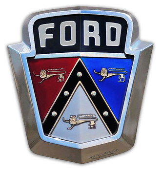 "1950's Ford Emblem Plasma Cut Metal Sign 15' by 16"""