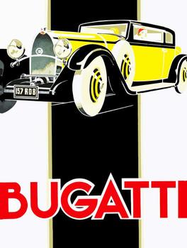 Vintage BUGATTI Metal Sign