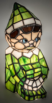 """Elf Accent Lamp 10"""" Tiffany Style Stained Glass Accent Lamp 200347"""