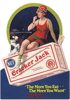 Cracker Jack Bathing Beauty Plasma Cut Metal Sign