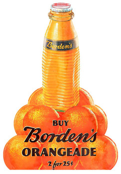 Borden's Orangeade Advertisement Plasma Cut Metal Sign