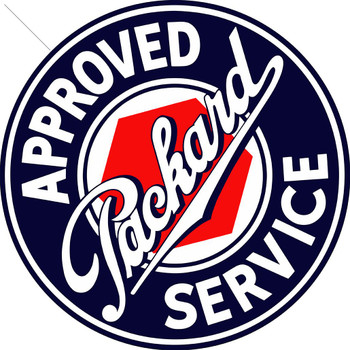 """Packard Approved  Service 14"""" Round Metal Sign"""