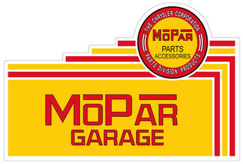 Mopar Garage Plasma Cut Metal Sign