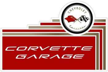 Corvette Garage Plasma Cut Metal Sign