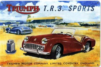 TR3 Triumph British Car Advertisement Metal Sign