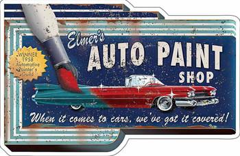 Auto Paint Shop Plasma Cut Metal Sign