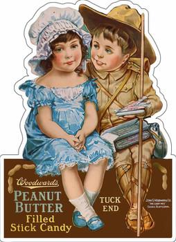 Woodward's Peanut Butter Candy Plasma Cut Metal Sign
