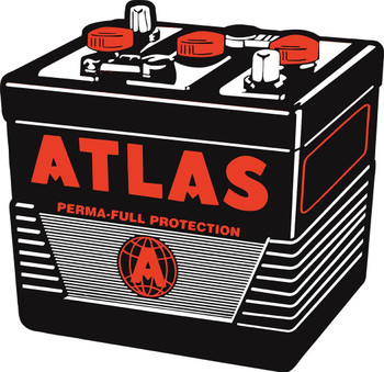 Atlas Battery Plasma Cut Metal Sign