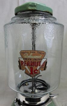Northwestern 1c Light Green Porcelain Peanut Dispenser circa 1930 #2