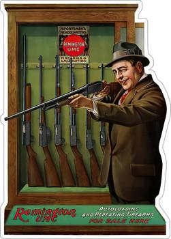 Remington Firearms Metal Advertising Sign