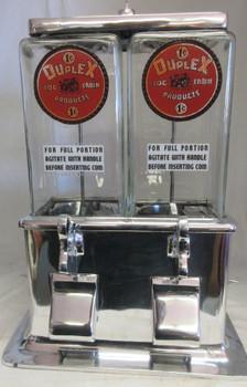 Duplex Log Cabin 1c Peanut / Candy Dispenser circa 1930's #1