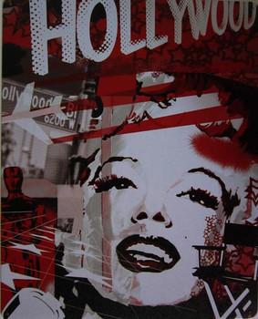 Marilyn Monroe-Hollywood Metal Sign