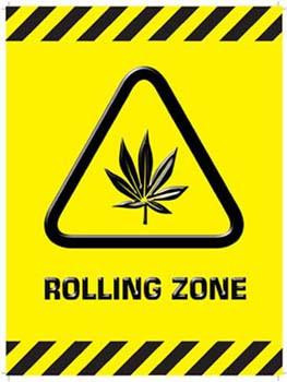 Rolling Zone Metal Sign