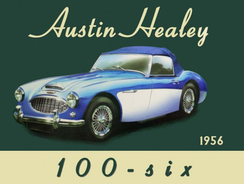 Austin Healey  100-six Metal Sign