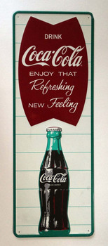 Coca-Cola Fishtail Vertical Tacker Sign Discontinued
