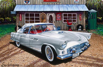 1956 Ford Thunderbird by Eric Herrman Metal Sign