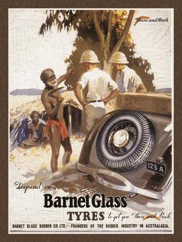 Barnett Glass Tyres Metal Sign