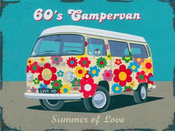 Campervan  60's-Summer of Love Metal Sign