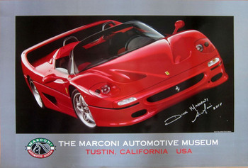 Marconi Automotive Museum Metal Sign