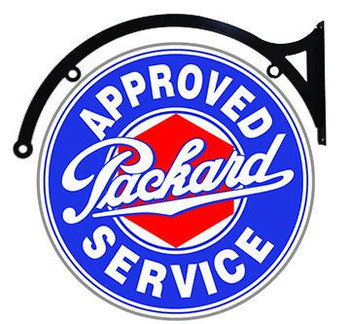 """Packard Approved Service 22"""" disc hanging"""