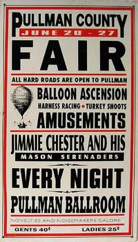 Pullman County Fair Metal Sign