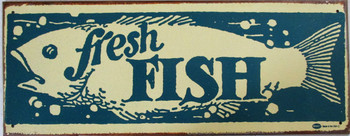 Fresh Fish Rustic Limited Edition Metal Sign