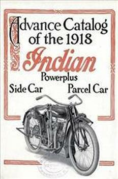 Indian Advance Catalog 1918 Metal Sign