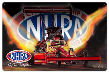 NHRA Top Fuel Dragster Metal Sign