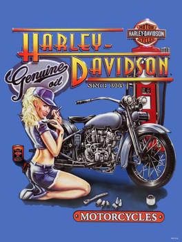 Mechanic Babe Harley-Davidson Metal Sign