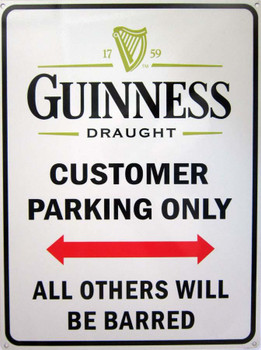 Guiness-Customer Parking Only