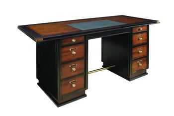 Cherry and Black Captain's Desk