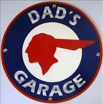 Dad's Garage Pontiac Metal Sign