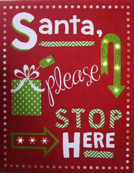 Santa-Please Stop  LED Canvas