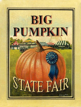Big Pumpkin-State Fair Metal Sign